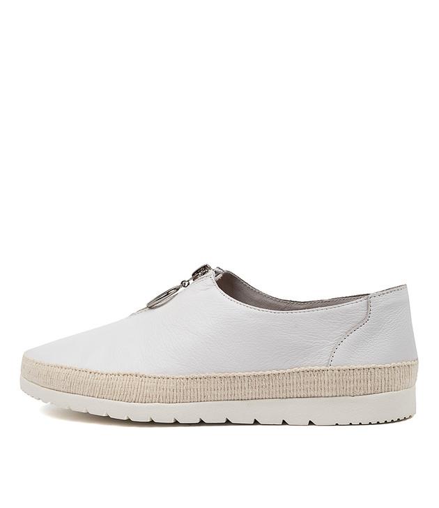 VASSIE  White Leather