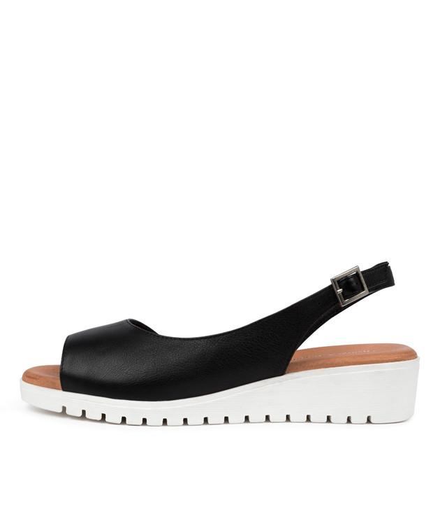 MITZI  Black White Leather