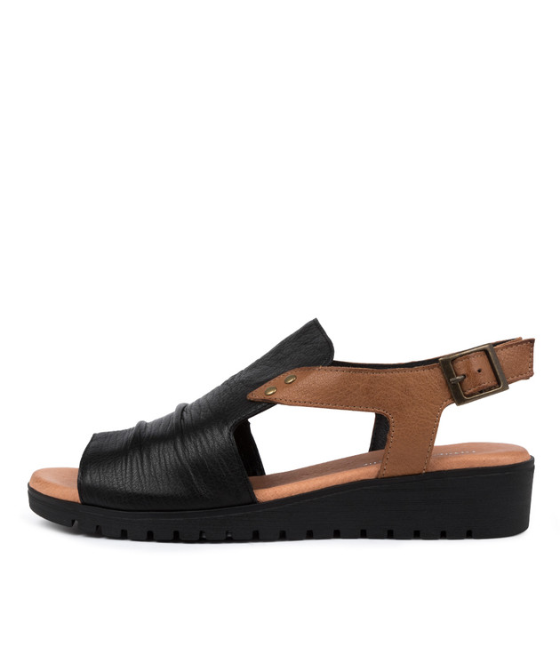 MADIS  Black Dark Tan Leather