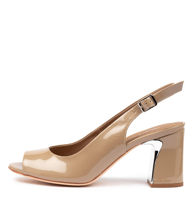KIANNA  Taupe Pearl Patent Leather