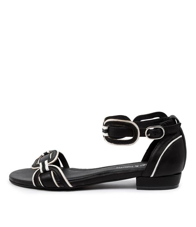 QUIN  Black-White Leather