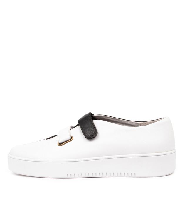 LESTER  White Black Leather
