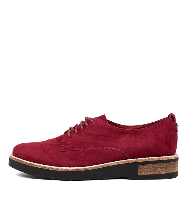 ROZANES  Deep Red Suede