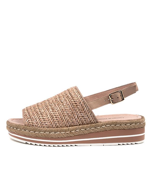ADLINES Sandals Coffee Syn Raffia Leather