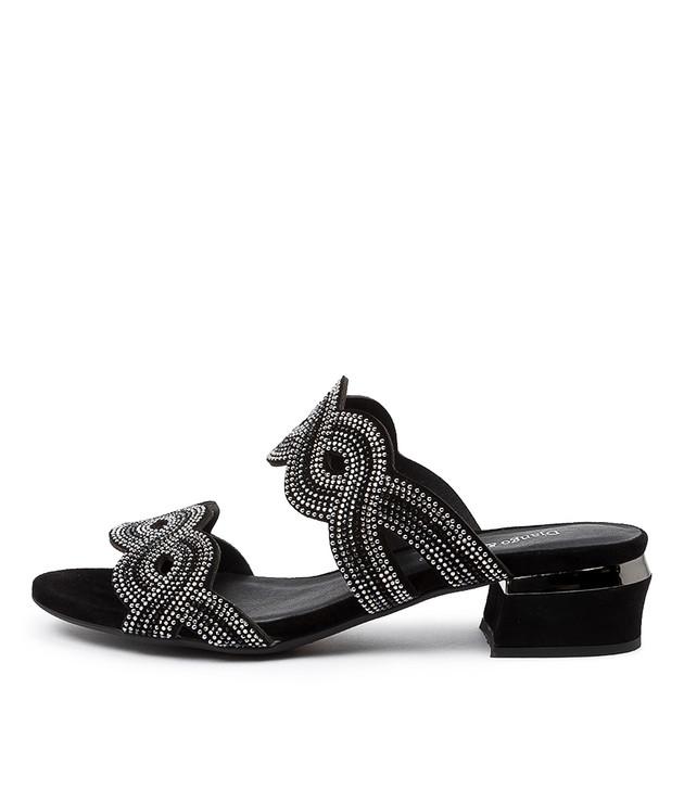 THEKLA Sandals Black Mulighti Black Suede Suede