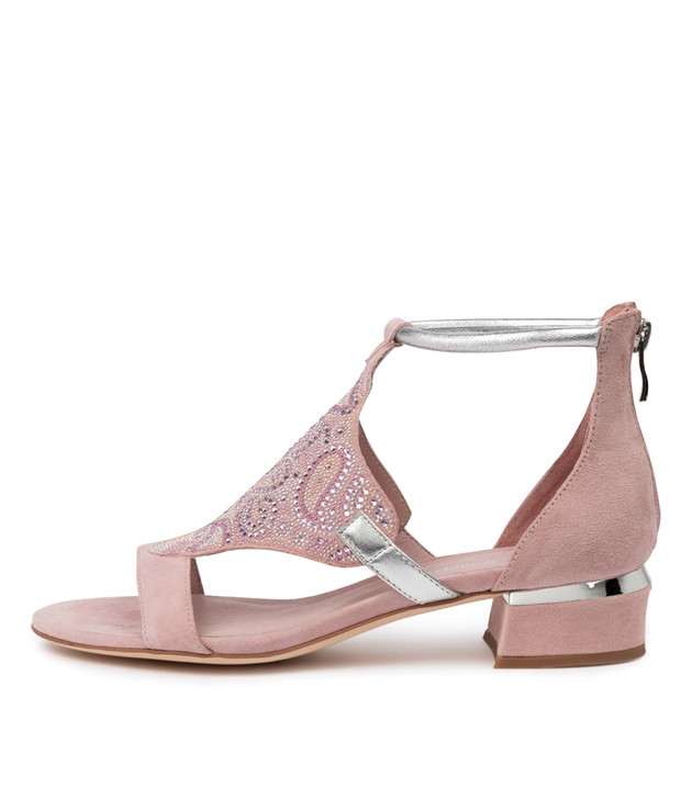 TOMIKA Sandals Pink Silver Multi