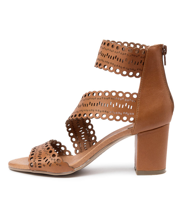 SHEP Sandals Dark Tan Leather