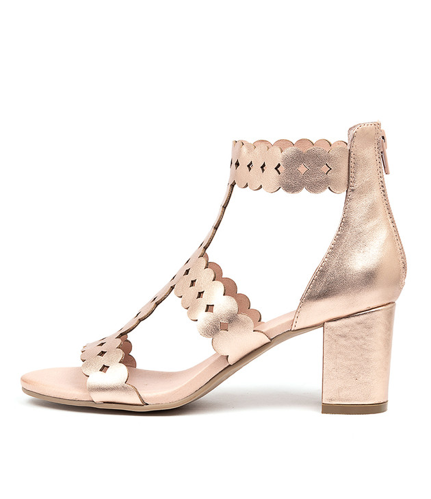 SUSSIE Sandals Rose Gold Leather