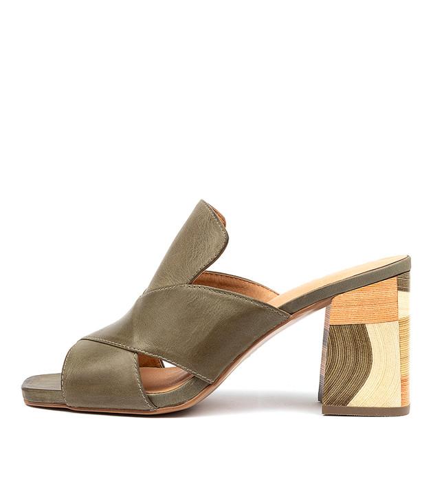 ROSS Sandals Khaki Leather
