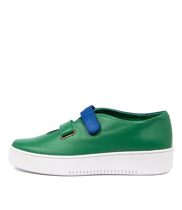 LESTER Emerald Bright Blue Leather