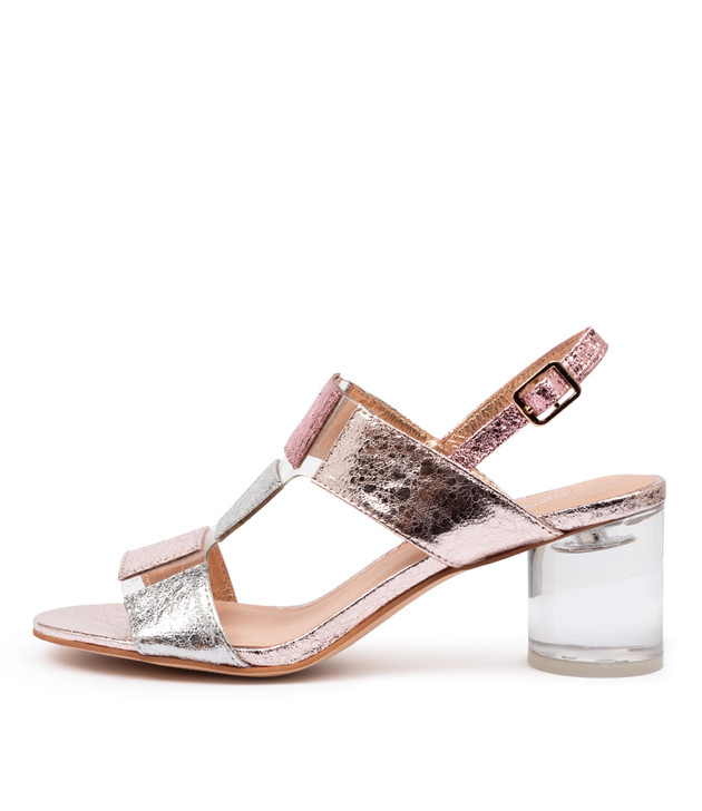 SEYMOUR Sandals Rose Mulighti Clear Leather Vinylit