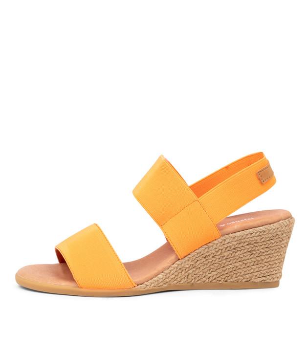 BLOOMY Orange Elastic Tan Leather