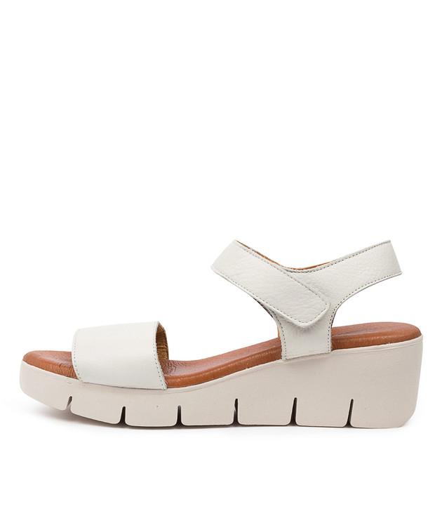 GINES White Leather