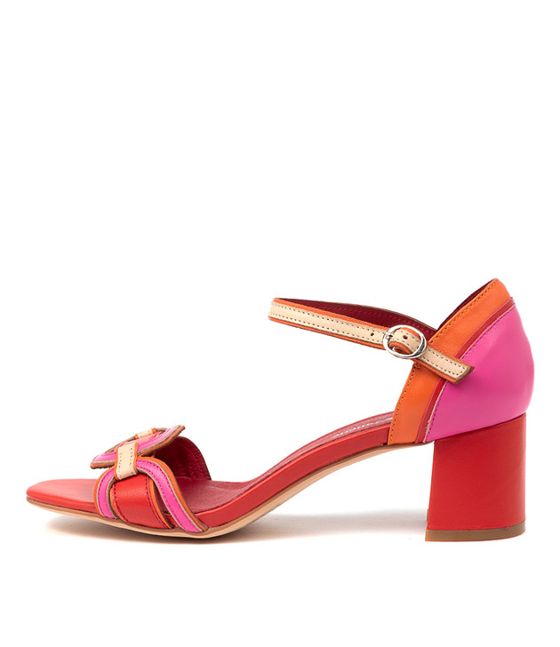 POLLECT Red Multi Leather