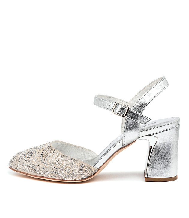 KATHLYN Silver Mix Suede