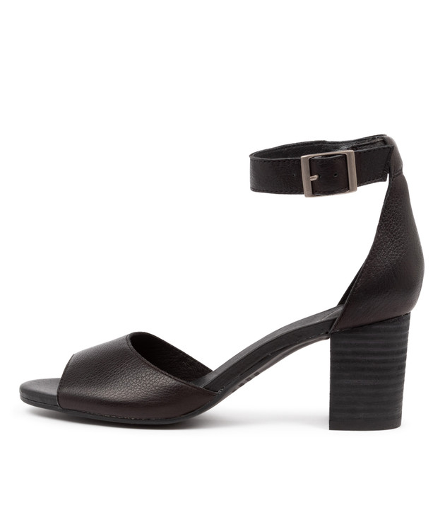 SHERWIN Black Leather Black Heel
