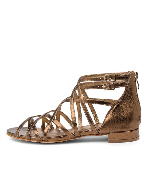 LARKIN Bronze Snake Leather