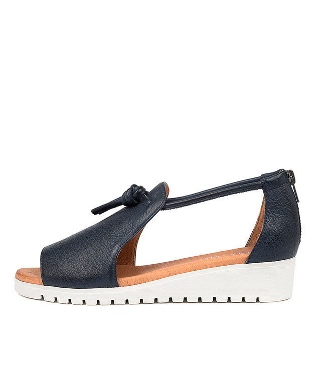 MELVIN Navy Leather White Sole