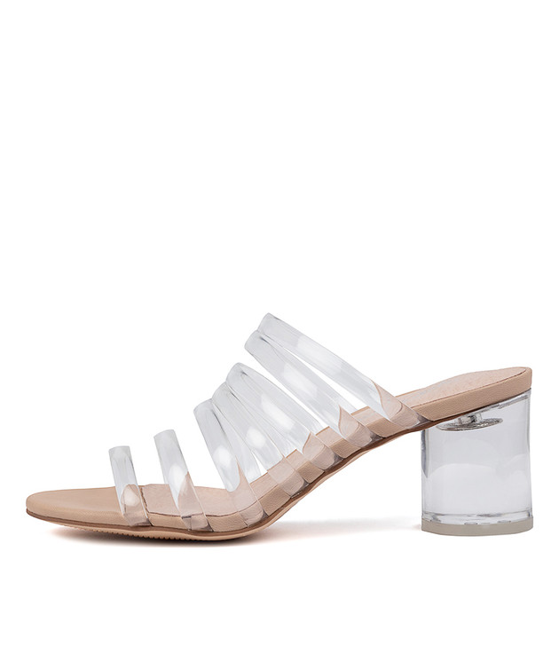 SHAFTER Clear Vinylite Nude Leather