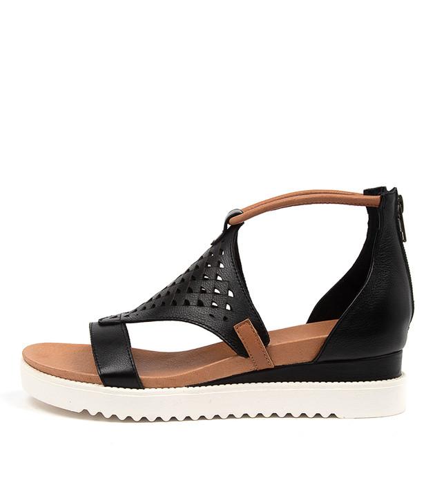 ALFRONZE Black Dark Tan Leather