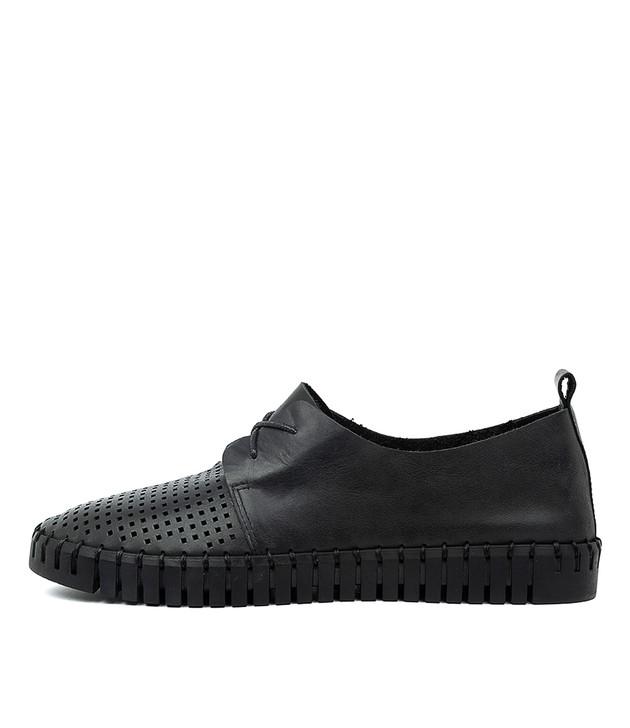 HUSTON Black Leather / Black Sole