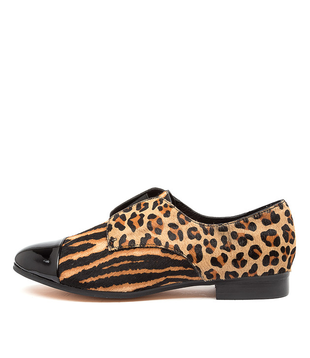 JOSIE Black Tan Zebra Multi Leather
