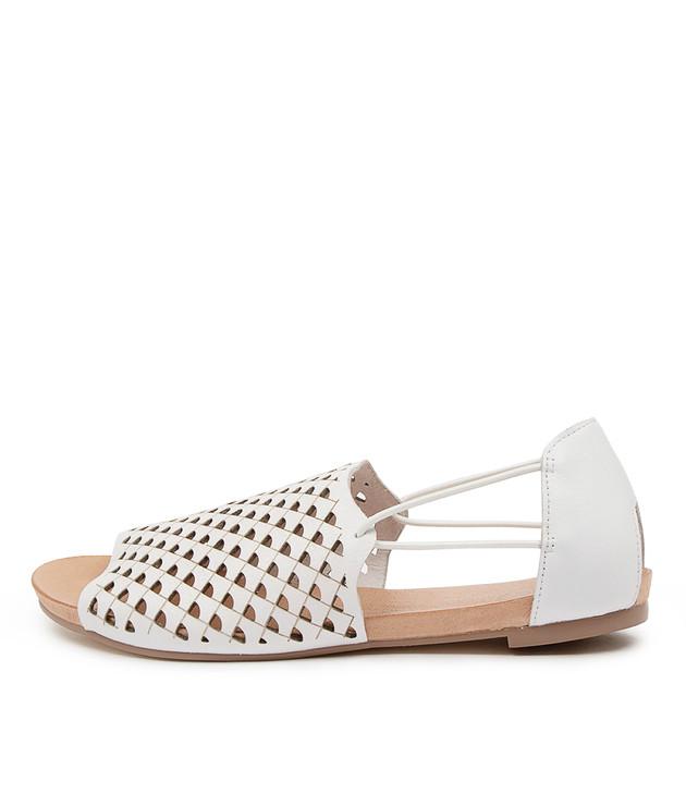 JANNA White Leather