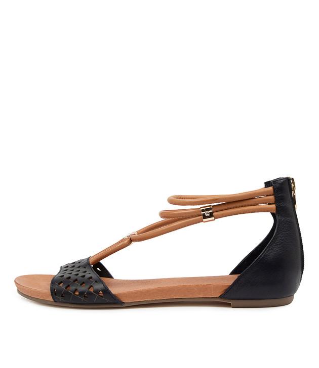 JOCELYN Navy Dark Tan Leather