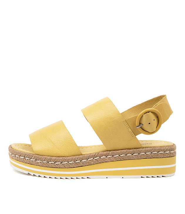 ATHA Light Yellow Leather