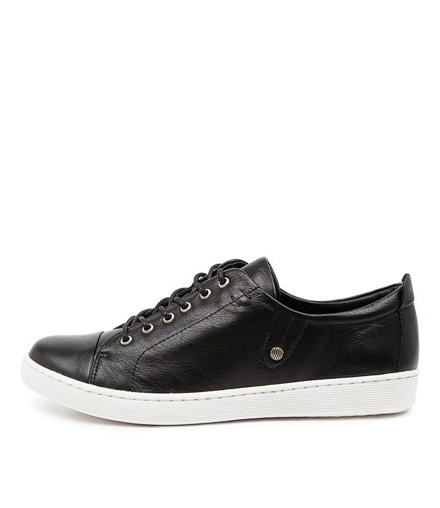 DEMPSERE Black Leather / White Sole