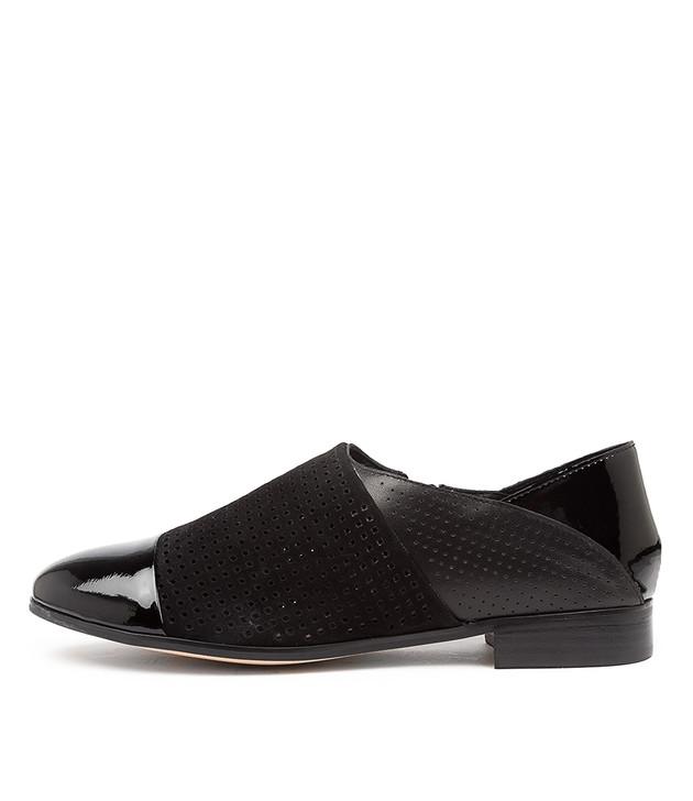JAFFARAS Black Mix Leather