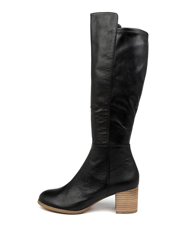 SETLEY Black Leather / Natural Heel