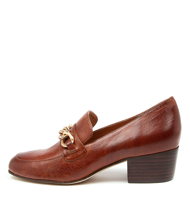 MAZILY Cognac Leather