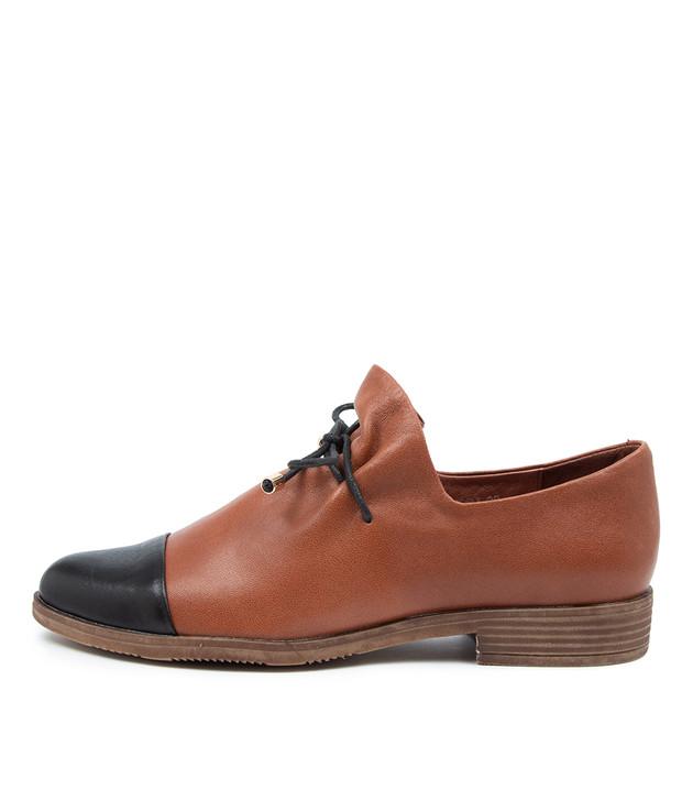 KOTTY Black Cognac Leather