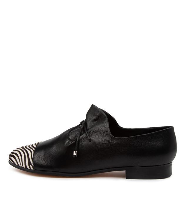 JABIN Black Leather Zebra Pony Hair