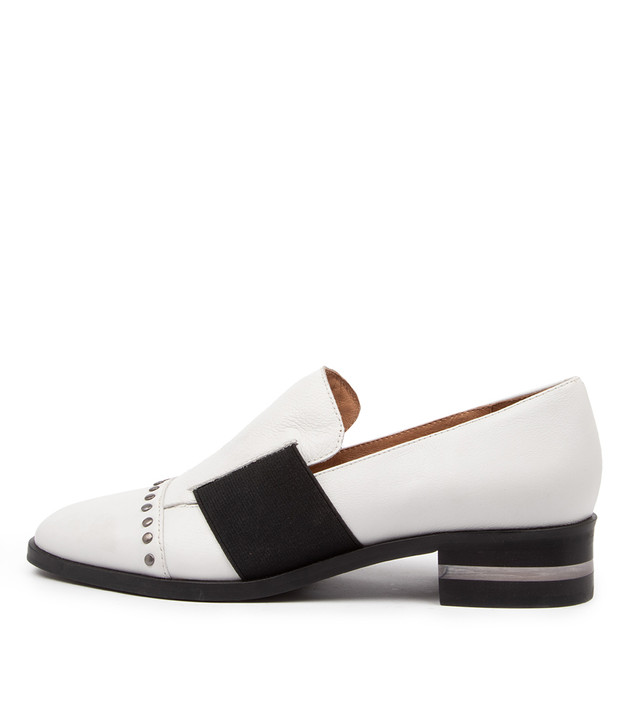 FROOP White Leather Black Elastic