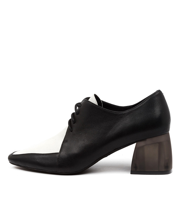 MARICE Black White Multi Leather