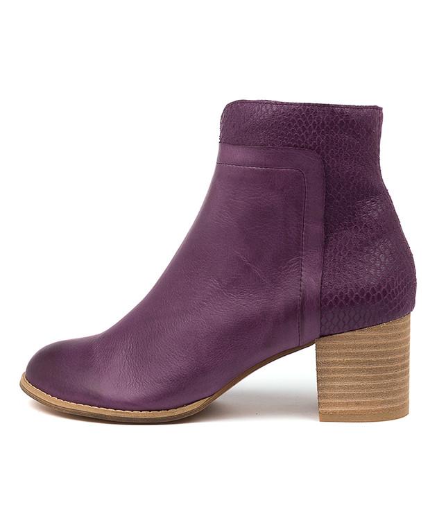 SIVIL Purple Print Leather