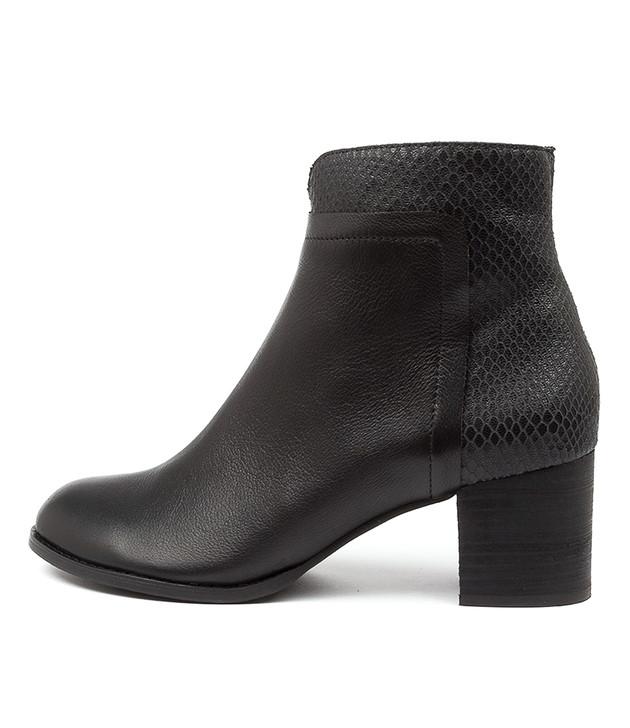 SIVIL Black Print Leather