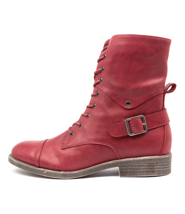 MEKHI Dark Red Leather