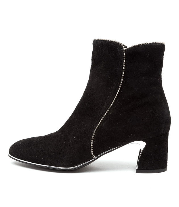 JERRIE Black Silver Suede