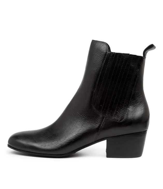 MIAMUNRO Black Leather