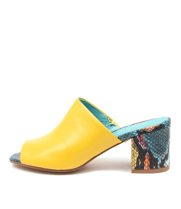 RAHN Yellow Turquoise Leather