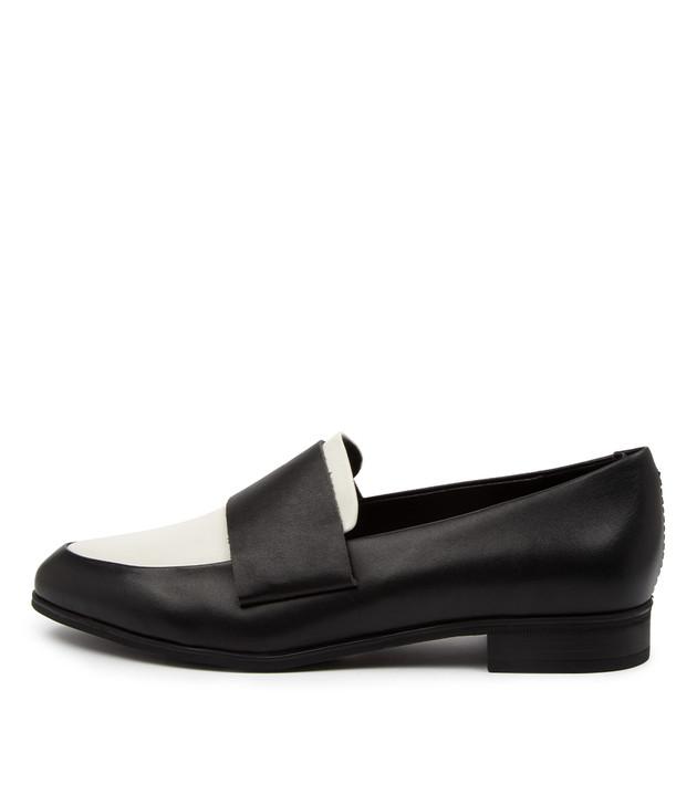 GABRIAN Black White Leather