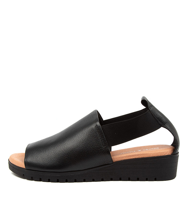MUNSTER Black Tan Leather