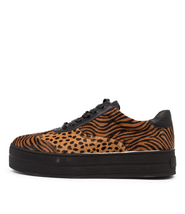 SANID Tan Zebra Leather