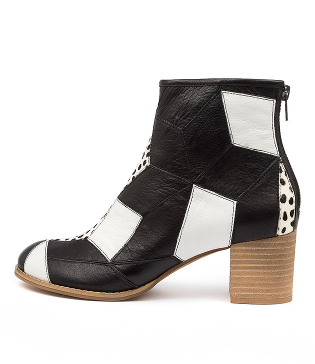 SISTER Black & White Leather