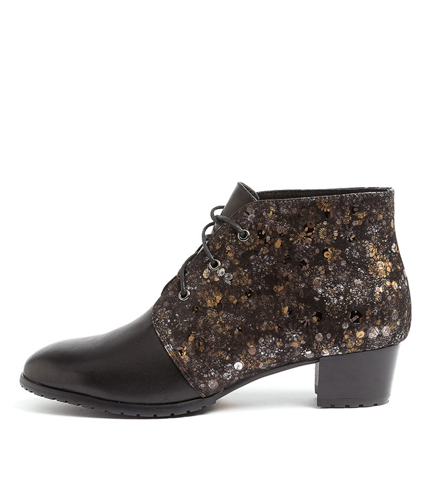 TANKERM Black Amber Print Leather