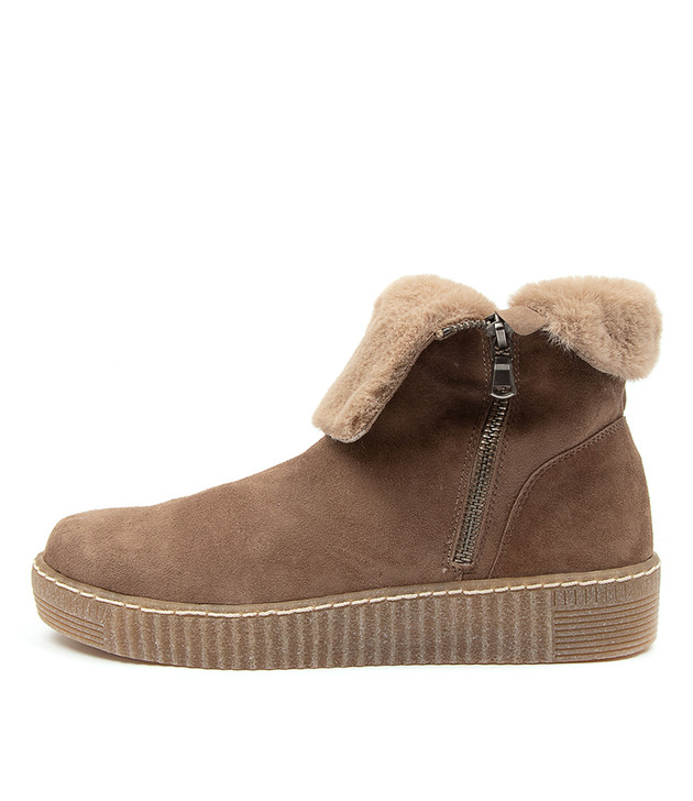 TROY Taupe Suede