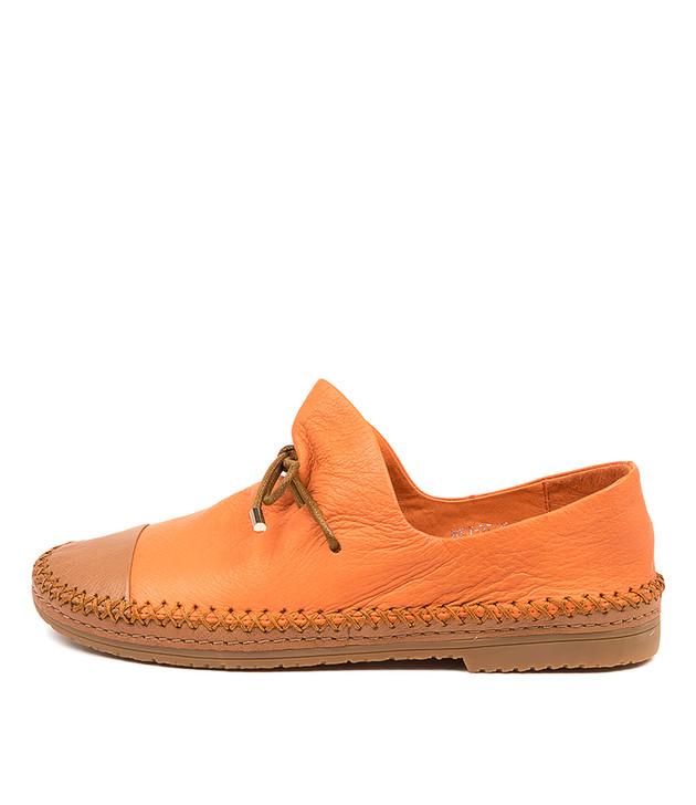 VOLT Dark Tan Orange Leather